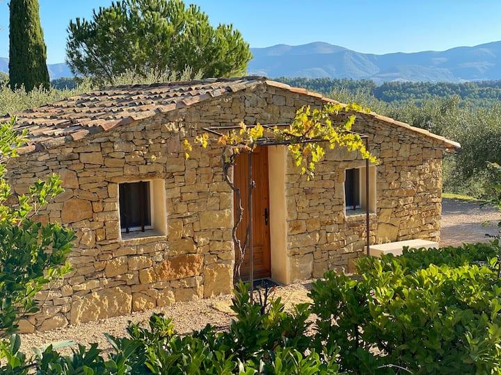 Bergerie de Haute-Provence au cœur d'un vignoble