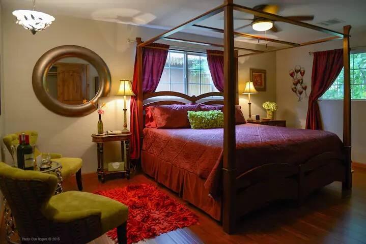 Our romantic Cabernet Suite with private en suite bath