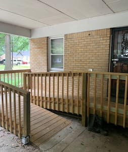 Handicap accessible ramp to entrance