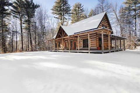 Stowe Mountain Log Cabin Ski House