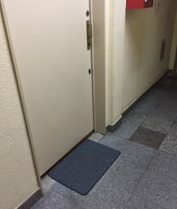 Portaaton kulku sisäänkäynnille