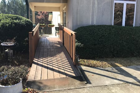 Ramp to your door from your parking space.