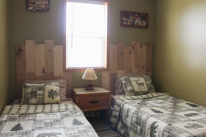 Bedroom #1 has two twin beds.