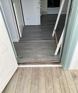 Dörren är 81 cm bred - en så kallad 9x21 dörr.