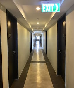 Well lit corridor in every floors
