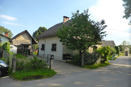 Scout cottage in a countryside village near city