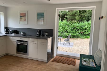 Both patio doors can be opened to provide extra wide entrance.
