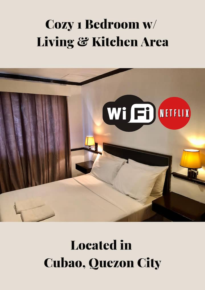 Cozy 1BR Hotel | WiFi | Netflix | FULLY Sanitized