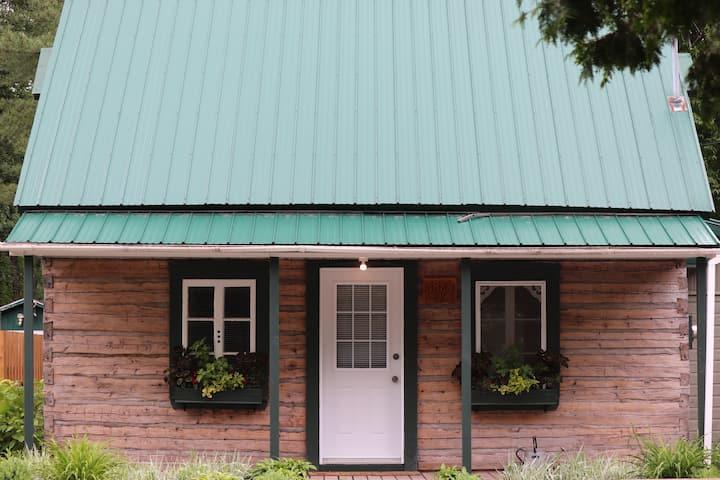 Chalet centenaire à la toiture verte