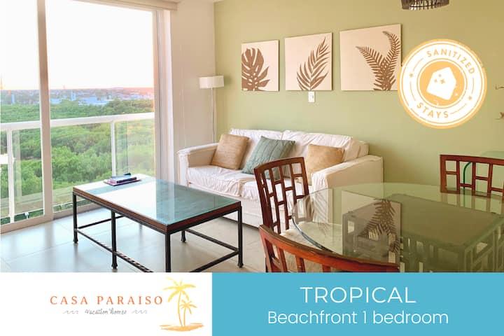 ☆ TROPICAL Comfortable Beachfront 1 BDR ☆