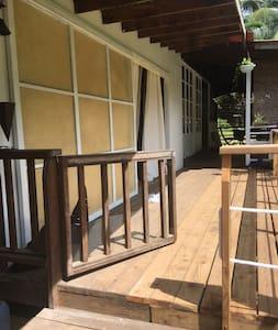 Accès à la terrasse de la maison