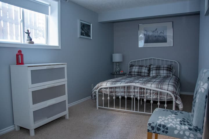 Bed 2- Recently  Renovated Basement -Crystal Green