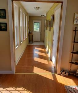nice wide hallway
