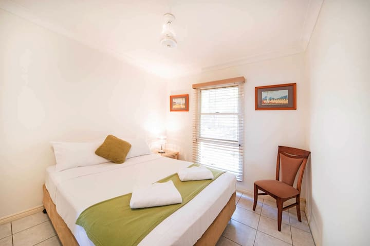Third Bedroom with queen bed, robe and air con