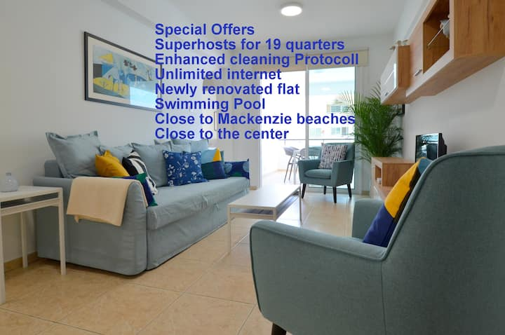Boris Mackenzie 2 bedroom Flat with Pool