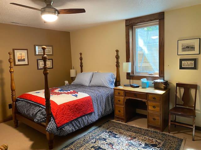 Bedroom 1. Egress window opens easily.