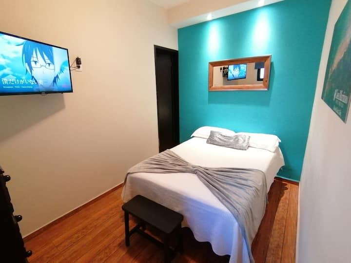 Excelente Habitación! SMART TV/Cable/WIFI yRopero!