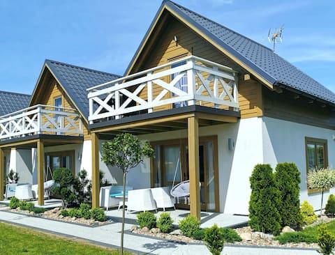 Nowy domek ,,Morska Przystań'' LA CUBITA Łeba