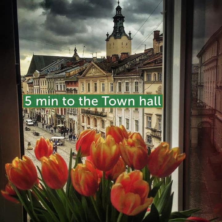 5min to the Town hall