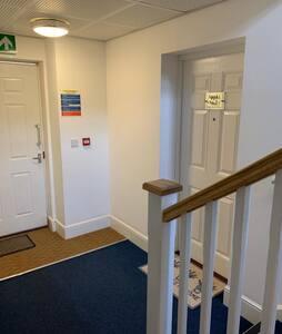 Extra wide hallway