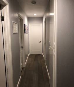 We have dimmer lights throughout the hallway and house