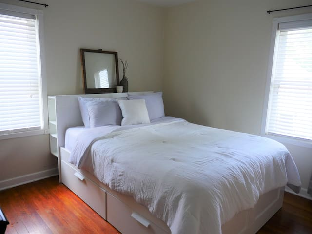 Bedroom 1- clean and serene