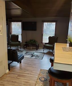 open floor plan makes it easy to move around.