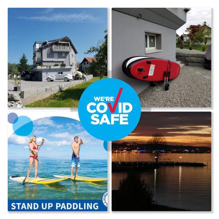 Schönes Studio direkt am Bodensee ( Klimaanlage )