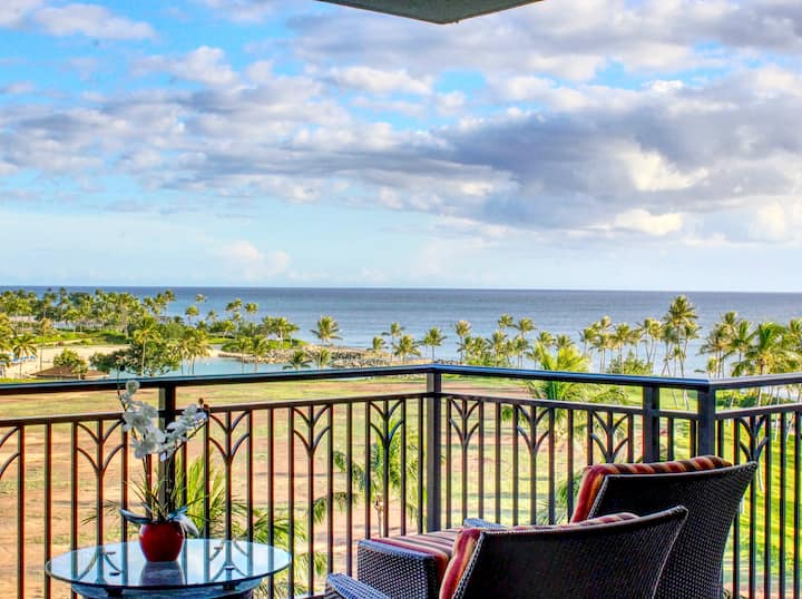 Ko Olina ocean views & steps to the beach B703