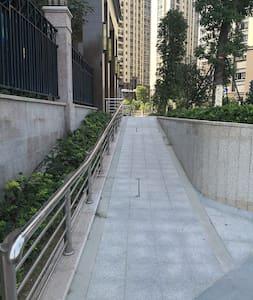 大门入口备有坡度很小的通道,适合轮椅上下
