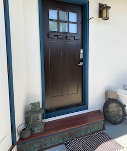 There is a lantern by the door as well as a motion sensor light for entrance
