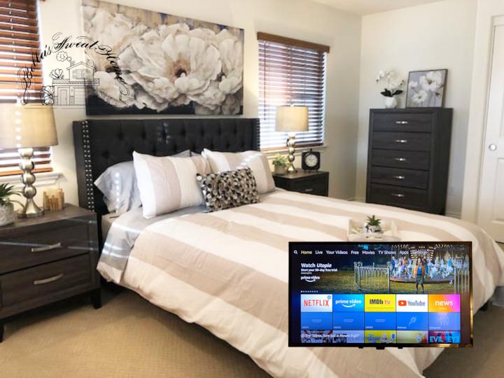 Clean,Stylish,Quiet,Bedroom+TV ,Near Costco,30days