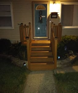 Front steps to porch and front entrance