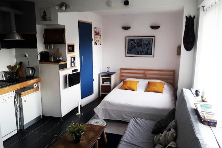 24 m² au centre : studio, parking ascenseur loggia