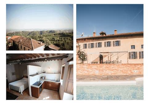Cozy studio Apartment w/ shared pool in Piemonte