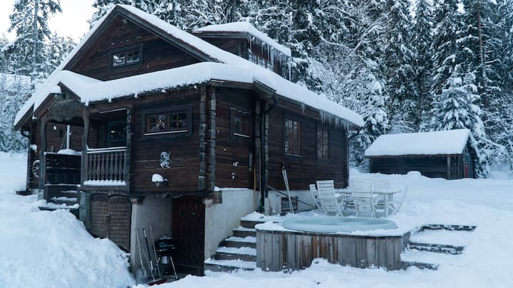 Large charming cottage 50m from lift and lakefront
