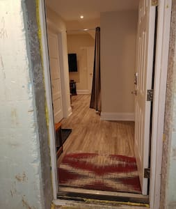 """Main entry door is 36 """" wide. Entry to living room area leading into apartment is 36"""" wide. Locked door to apartment is 32"""" wide. All doors inside apartment are 32"""" wide."""