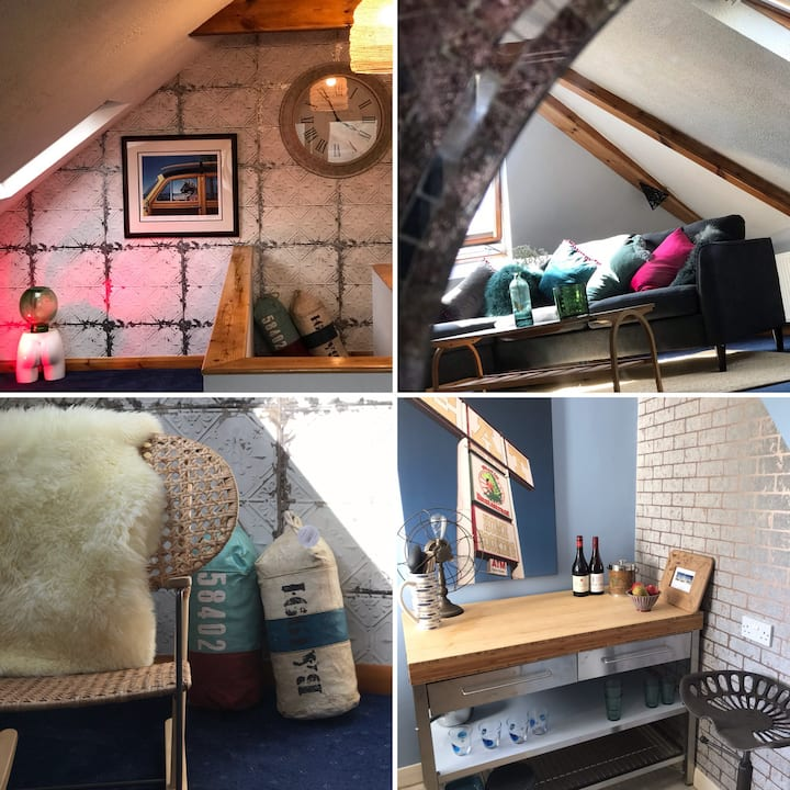 The Funky Sail Loft in the perfect location  .
