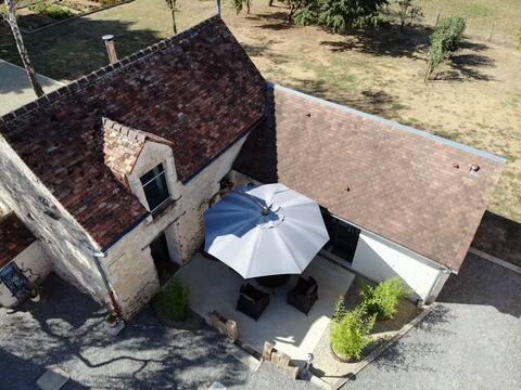 Maisonnette indépendante dans un cadre champêtre.