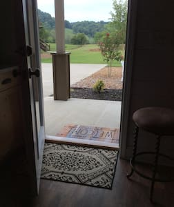 """Entrance door is 35"""" width with no slope."""