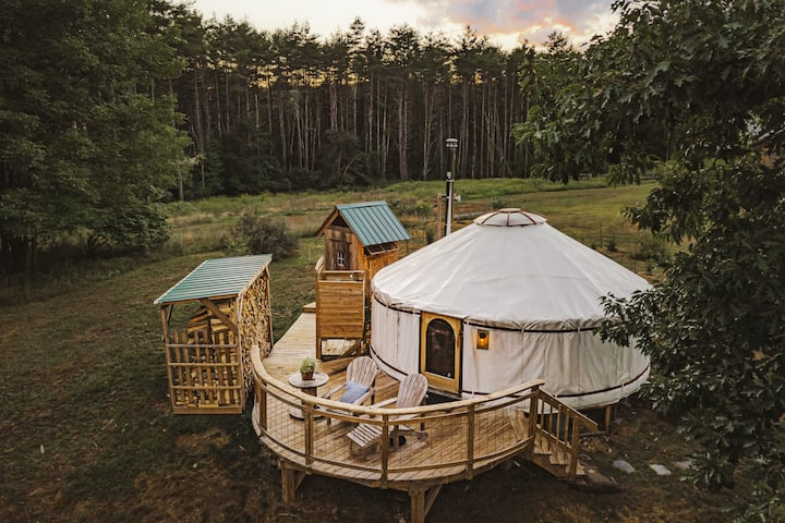 Vermont Retreat Four-Season Luxury Yurt