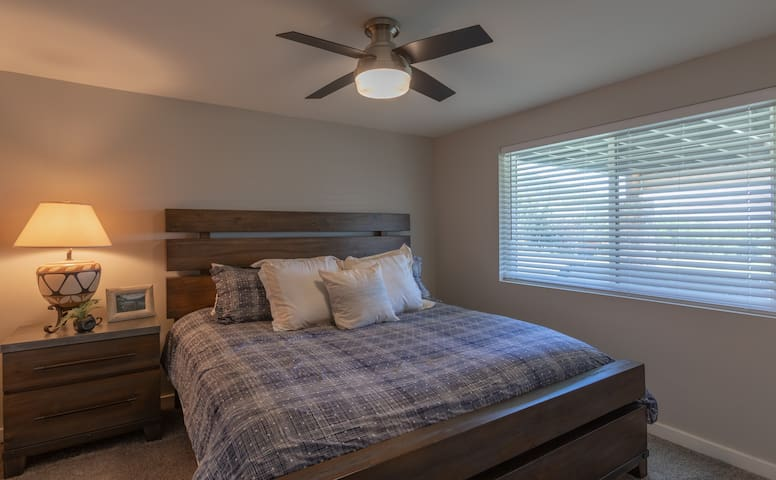 Another comfortable bedroom. Bedroom #4 with a King bed