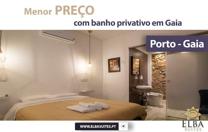 Suíte com banheiro privativo em Gaia - Porto. S1