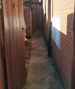 Step free side access to apartment.