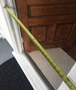"""35"""" front doorway"""