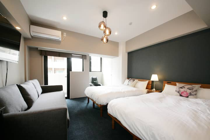 ☆NEW HOTEL_A 4minute walk to Nakasu and Yatai