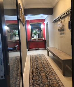 The hall way is wide. We also offer a cleaning lady as part of our services for free   Only , if you stay for 2 days and more,