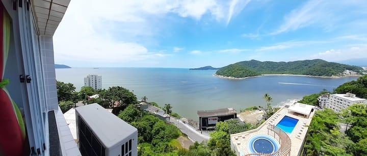 Bela Vista Studio Ilha Porchat - L I N D O !!! -