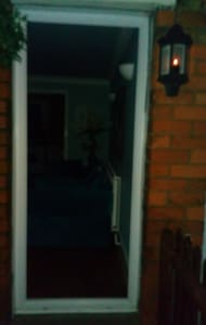 Night light outside the front door, is on a sensor, which makes the path  well litto avoid trips and falls.
