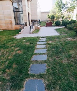 Caminho sem degraus até à entrada